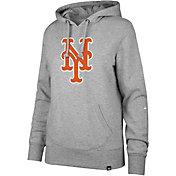 '47 Women's New York Mets Grey Headline Pullover Hoodie