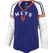 '47 Women's New York Mets Royal Prime Long Sleeve V-Neck Shirt