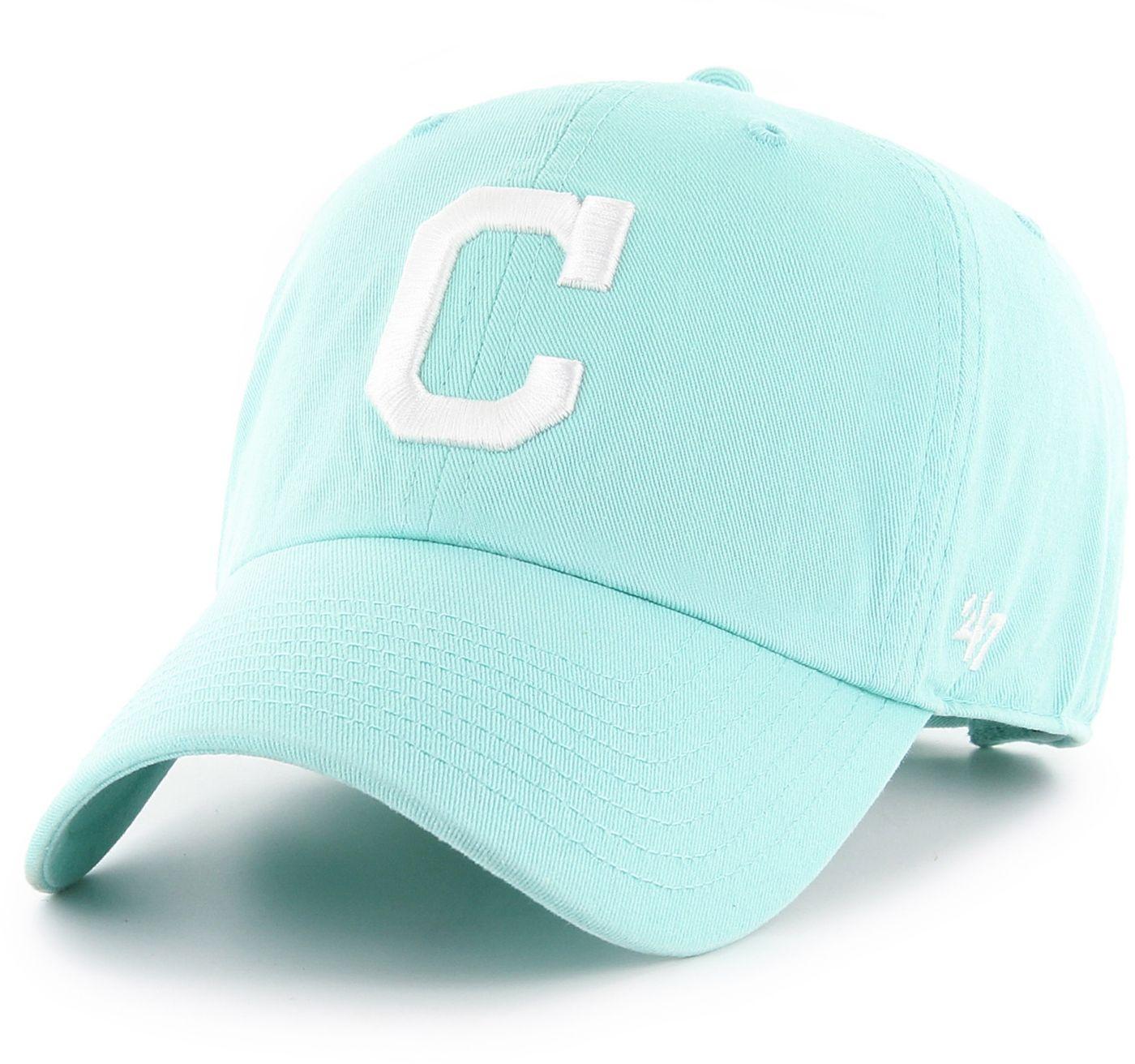 '47 Women's Cleveland Indians Teal Clean Up Adjustable Hat