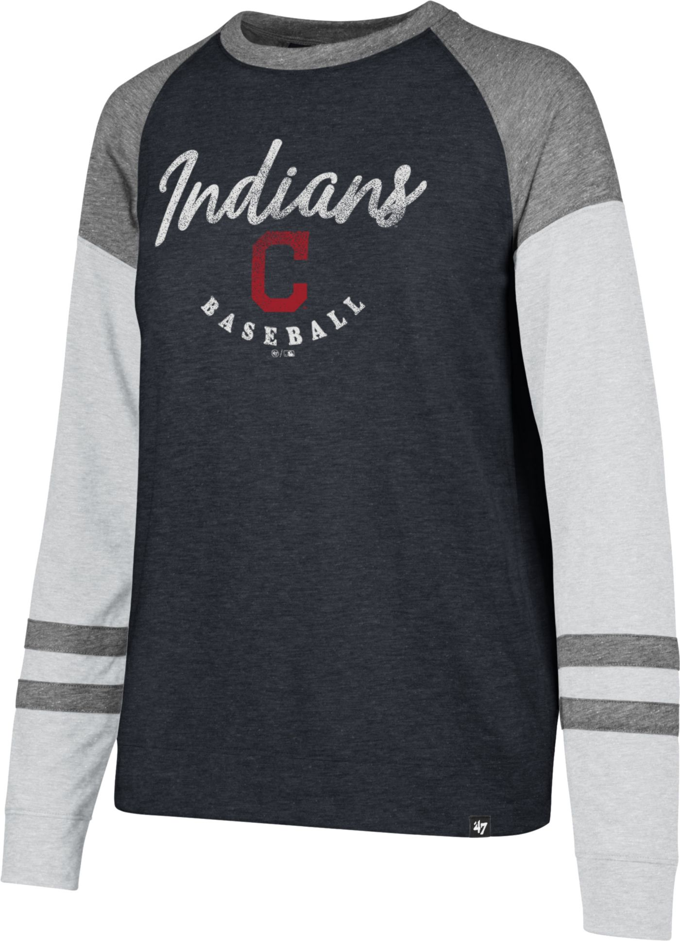 '47 Women's Cleveland Indians Match Long Sleeve Shirt