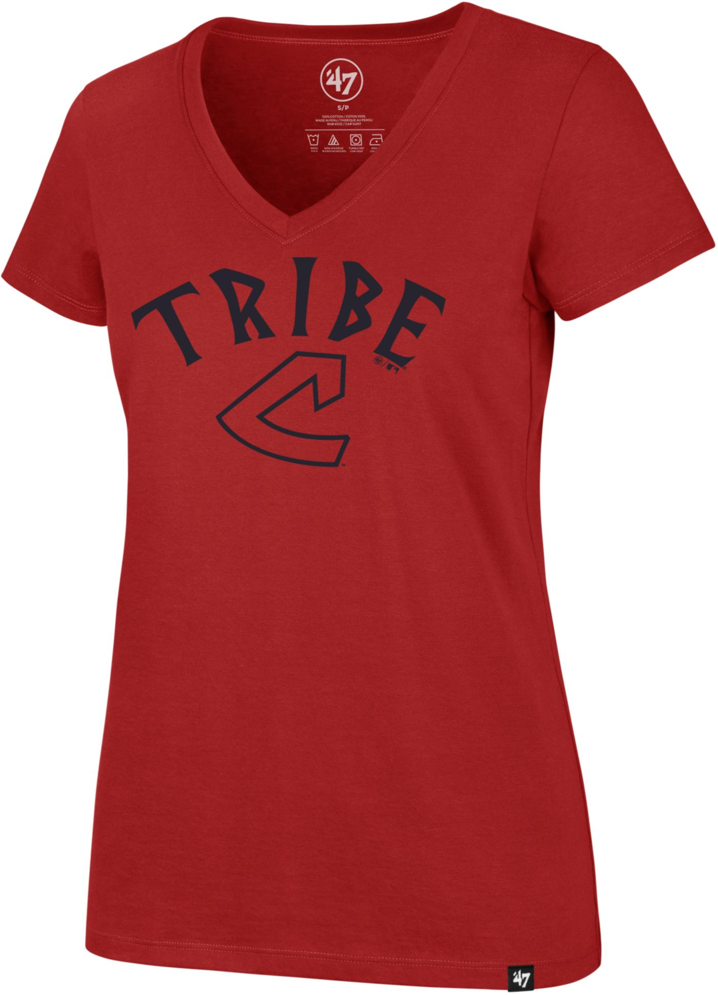 '47 Women's Cleveland Indians Ultra Rival V-Neck T-Shirt