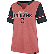 '47 Women's Cleveland Indians Red Match Hero T-Shirt