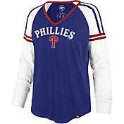 '47 Women's Philadelphia Phillies Royal Prime Long Sleeve V-Neck Shirt
