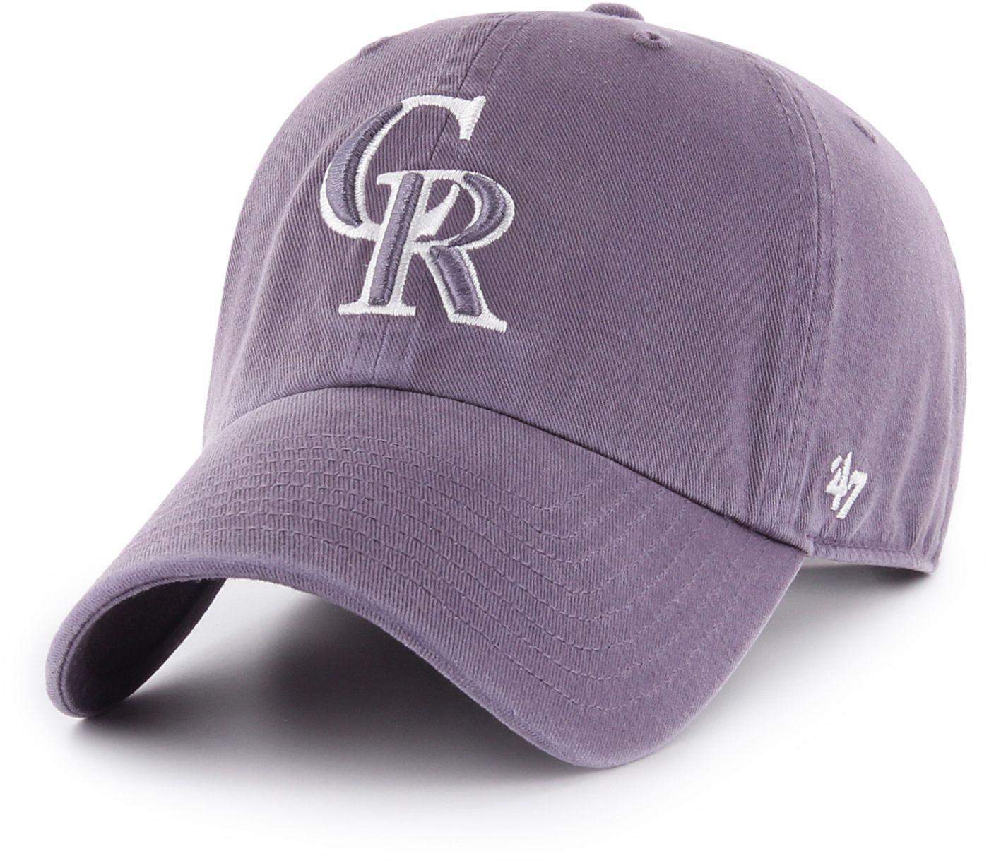 '47 Women's Colorado Rockies Purple Clean Up Adjustable Hat