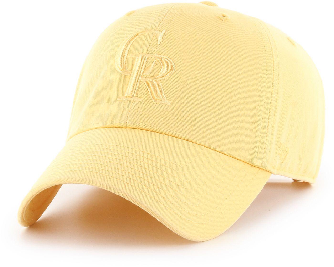 '47 Women's Colorado Rockies Yellow Clean Up Adjustable Hat