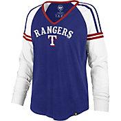 '47 Women's Texas Rangers Royal Prime Long Sleeve V-Neck Shirt