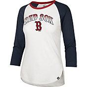 '47 Women's Boston Red Sox Navy Splitter Raglan Three-Quarter Sleeve T-Shirt