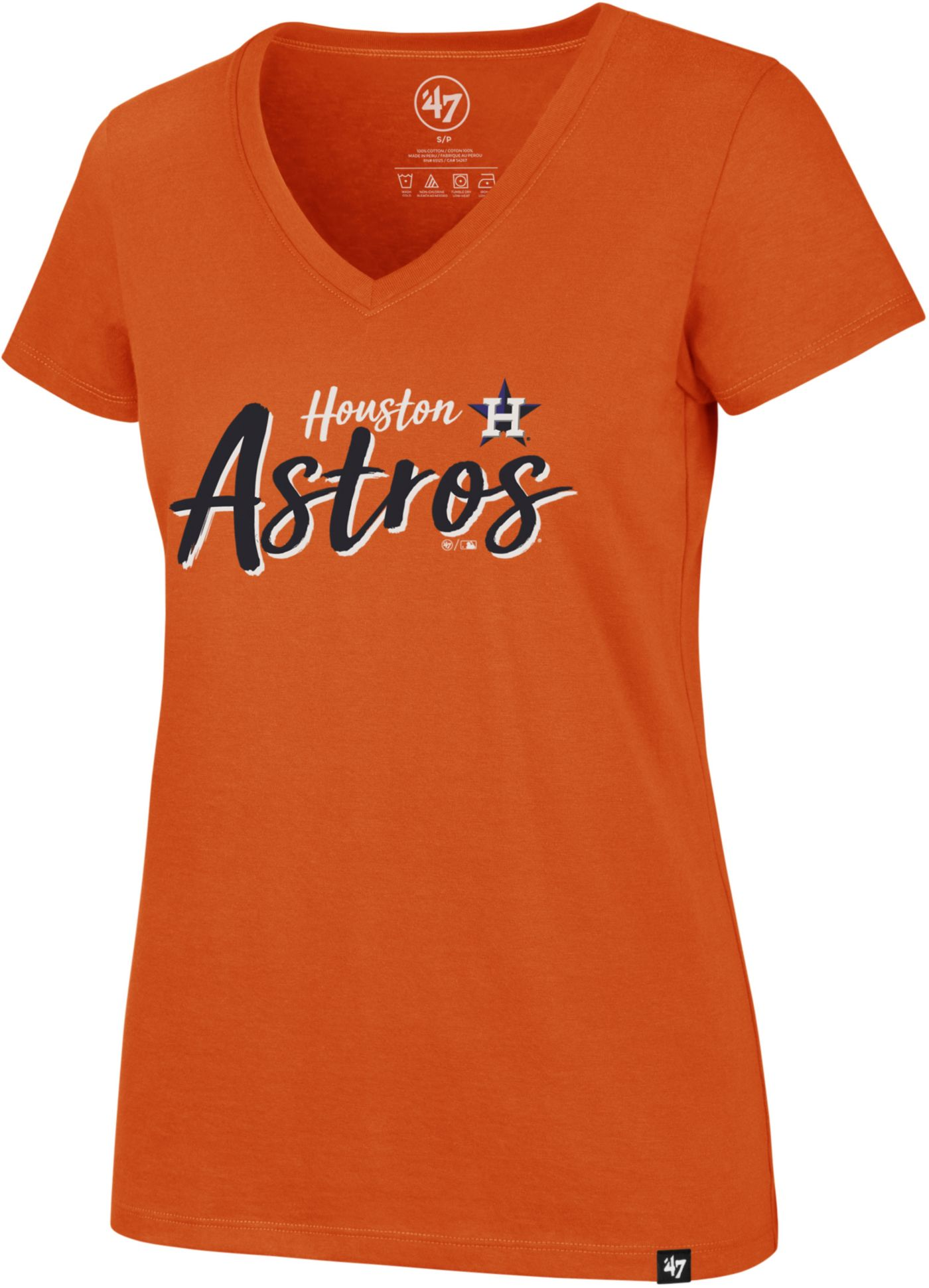 '47 Women's Houston Astros Ultra Rival V-Neck T-Shirt