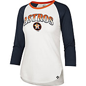 '47 Women's Houston Astros Navy Splitter Raglan Three-Quarter Sleeve T-Shirt