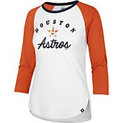 '47 Women's Houston Astros Splitter Raglan Three-Quarter Sleeve Shirt