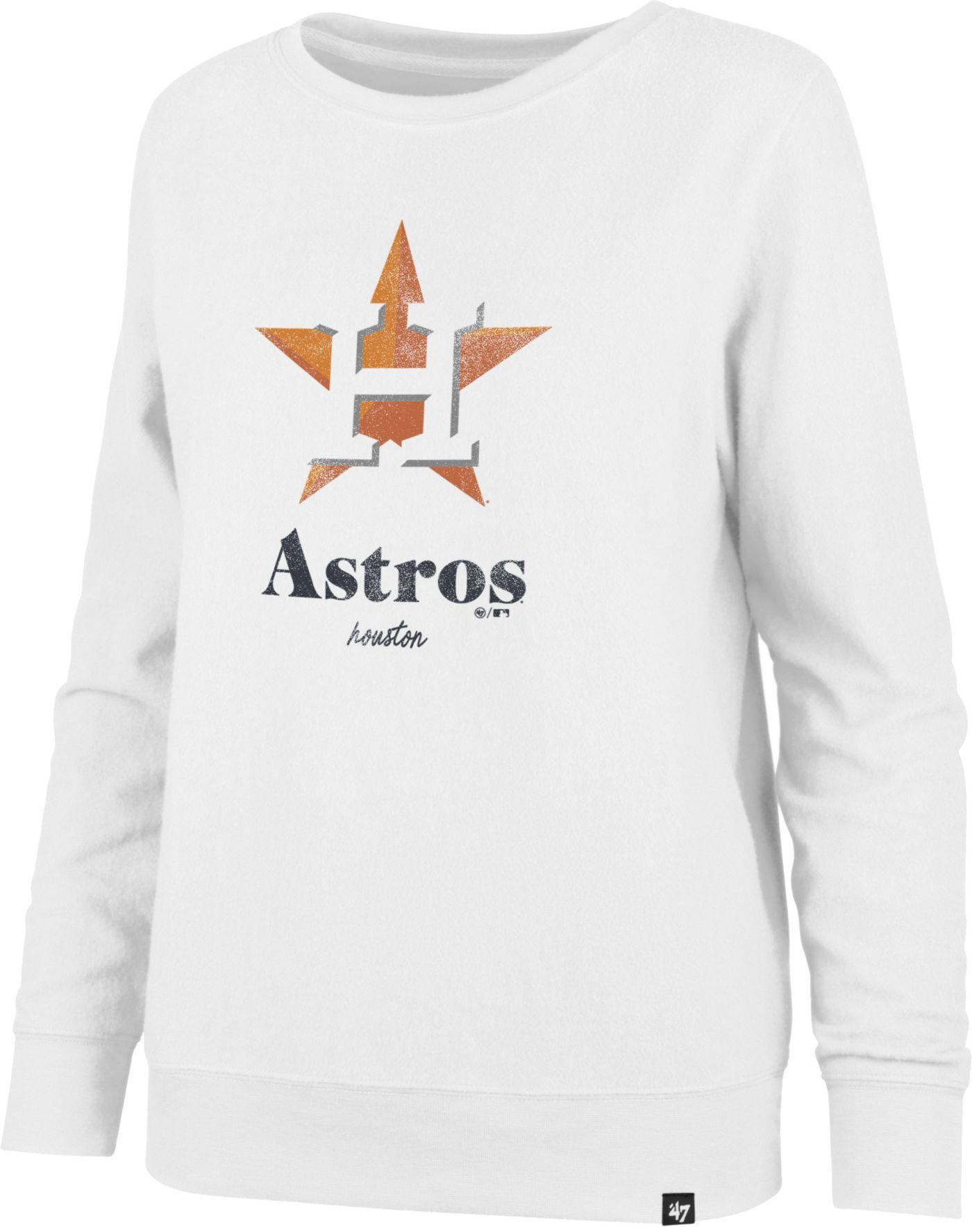 '47 Women's Houston Astros Throwback Fleece Crew