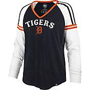'47 Women's Detroit Tigers Navy Prime Long Sleeve V-Neck Shirt