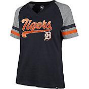'47 Women's Detroit Tigers Navy Pavilion V-Neck T-Shirt