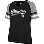 '47 Women's Chicago White Sox Black Pavilion V-Neck T-Shirt