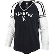 '47 Women's New York Yankees Navy Prime Long Sleeve V-Neck Shirt