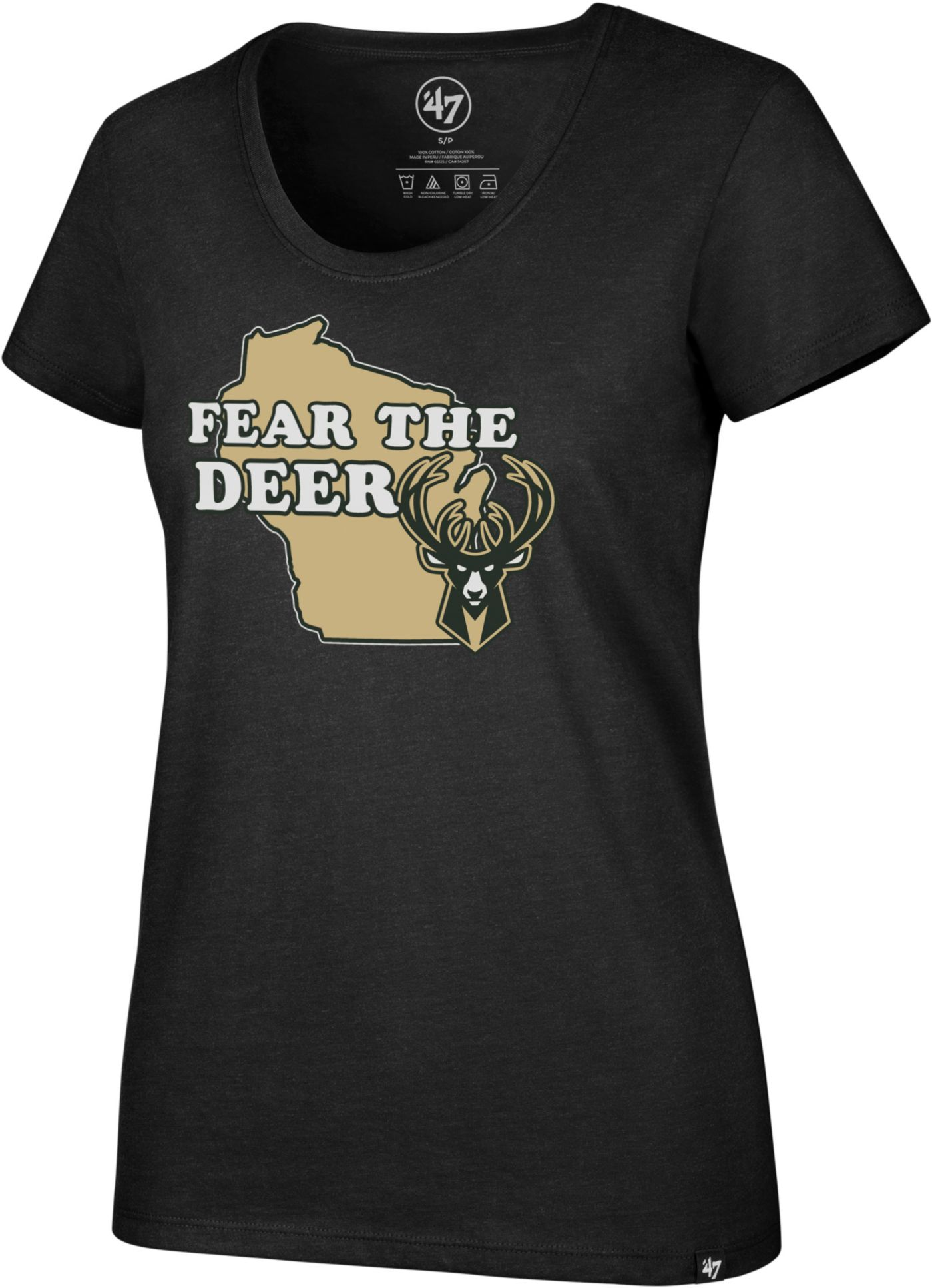 '47 Women's Milwaukee Bucks Scoop Neck T-Shirt