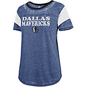 '47 Women's Dallas Mavericks Burnout Scoop Neck Shirt