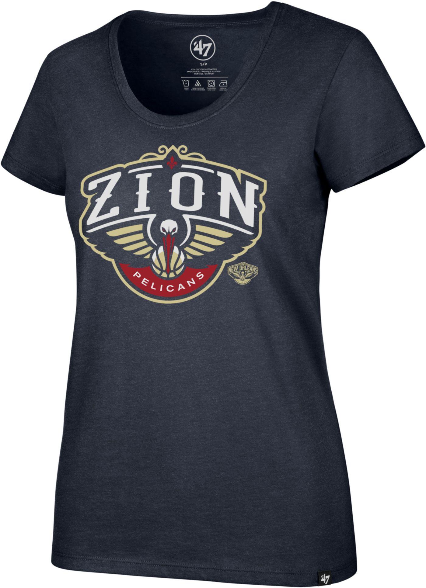 '47 Women's New Orleans Pelicans Zion Williamson Navy Scoop Neck T-Shirt