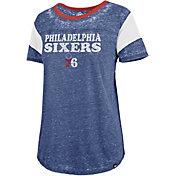 '47 Women's Philadelphia 76ers Burnout Scoop Neck Shirt