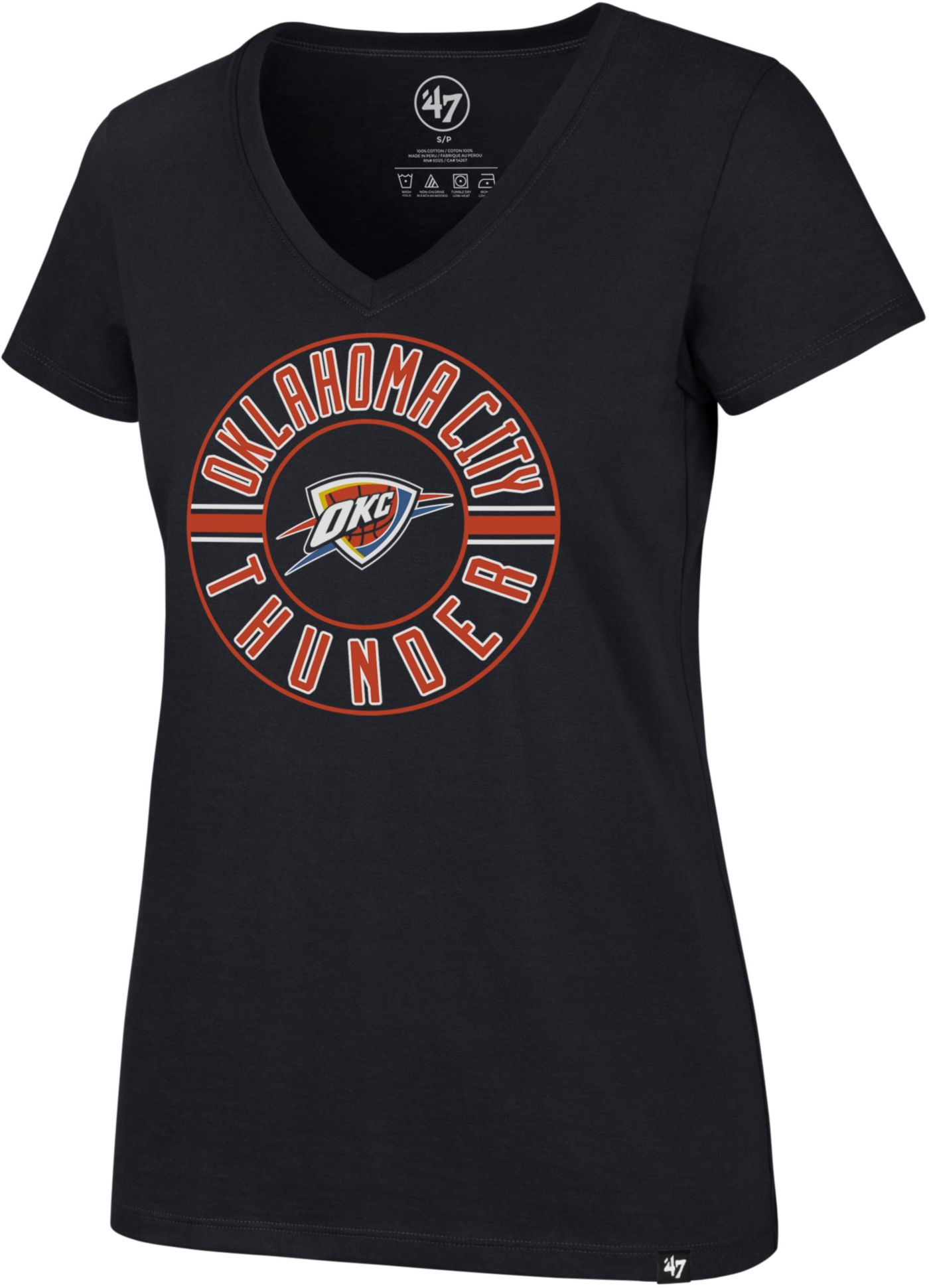 '47 Women's Oklahoma City Thunder V-Neck T-Shirt