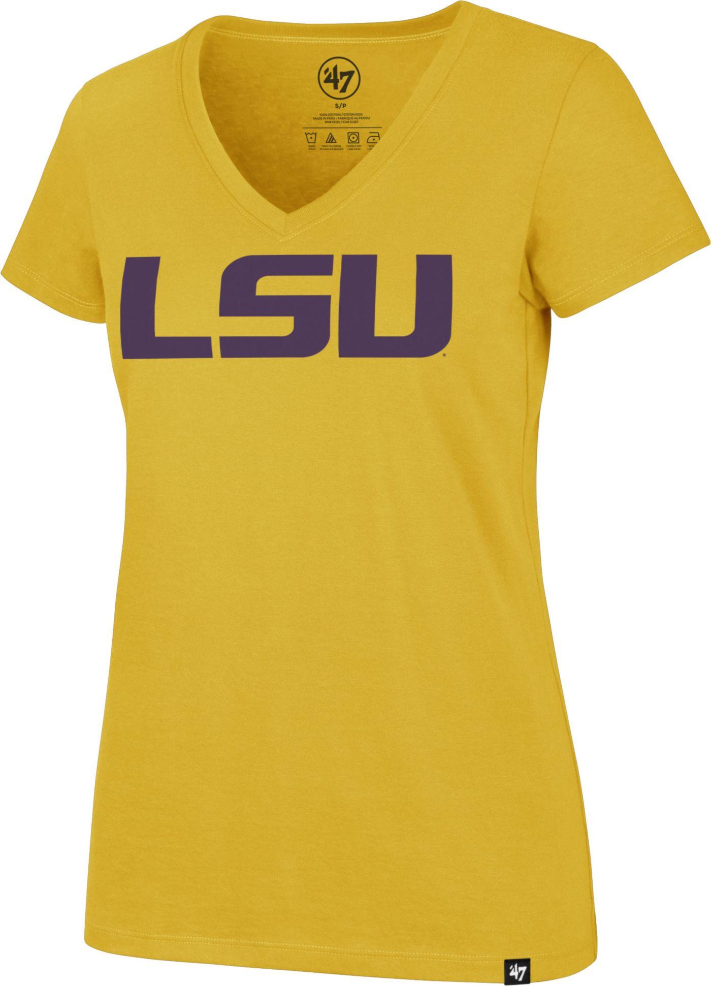 '47 Women's LSU Tigers Gold Rival V-Neck T-Shirt