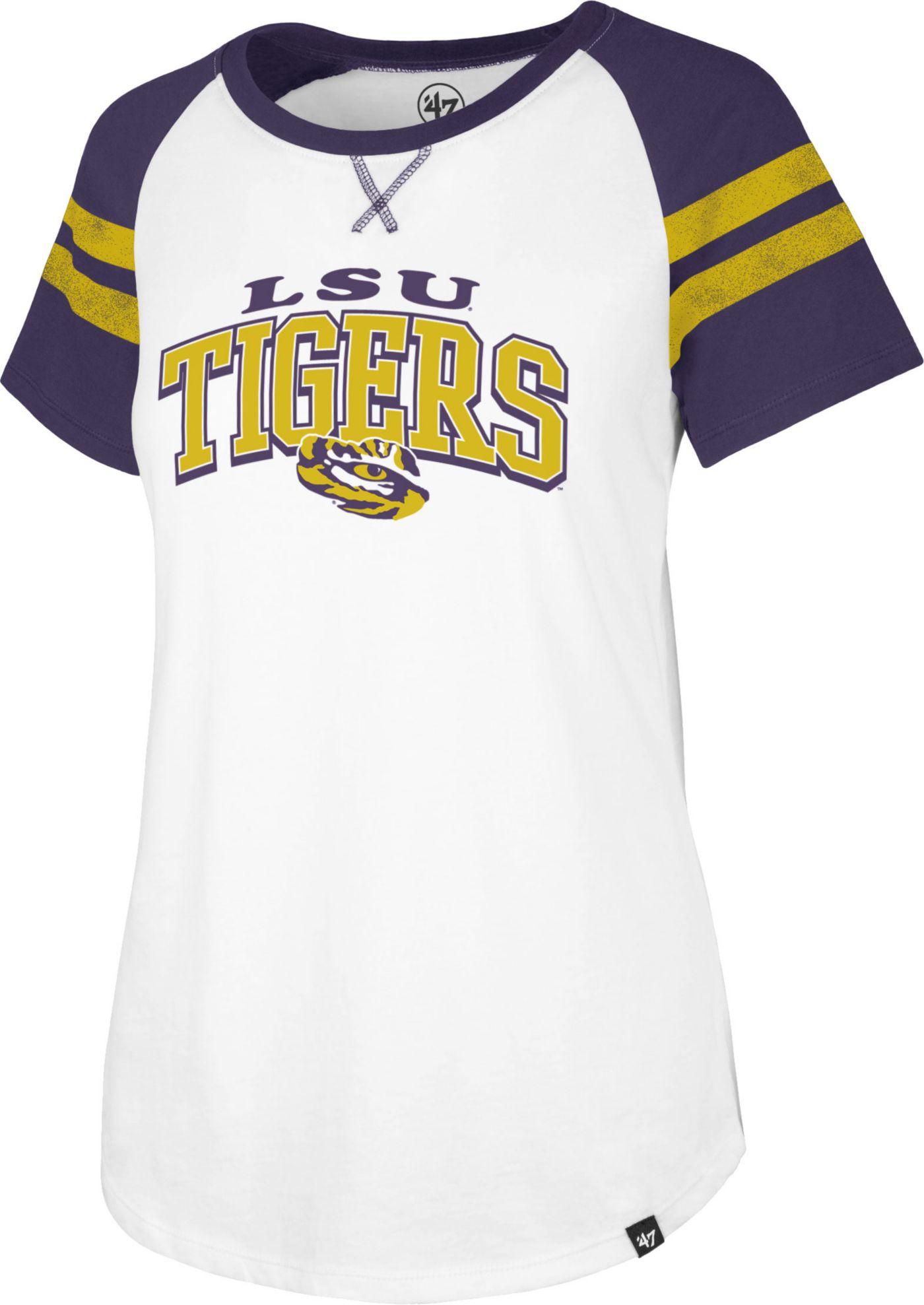 '47 Women's LSU Tigers Flyout Raglan White T-Shirt