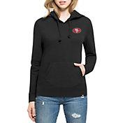 '47 Women's San Francisco 49ers Rundown Black Pullover Hoodie