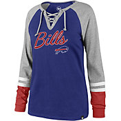 '47 Women's Buffalo Bills Fastbreak Lace-Up Long Sleeve Royal Shirt