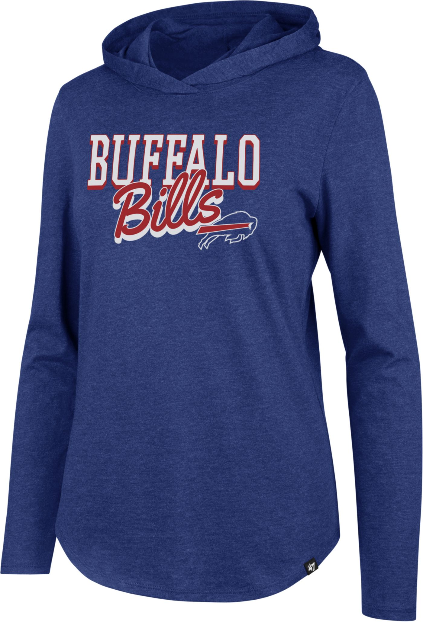 '47 Women's Buffalo Bills Club Royal Hooded Long Sleeve Shirt