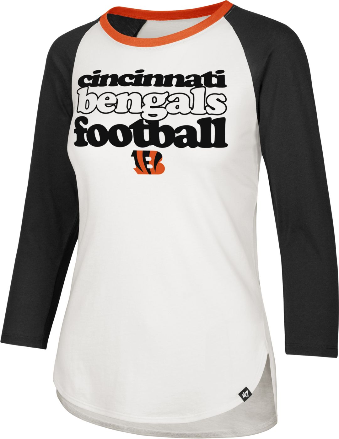 2578fb34 '47 Women's Cincinnati Bengals Retro Stock Throwback Raglan Shirt