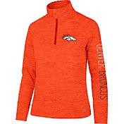 '47 Women's Denver Broncos Impact Grey Quarter-Zip Pullover