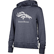 '47 Women's Denver Broncos Side Lace Navy Hoodie