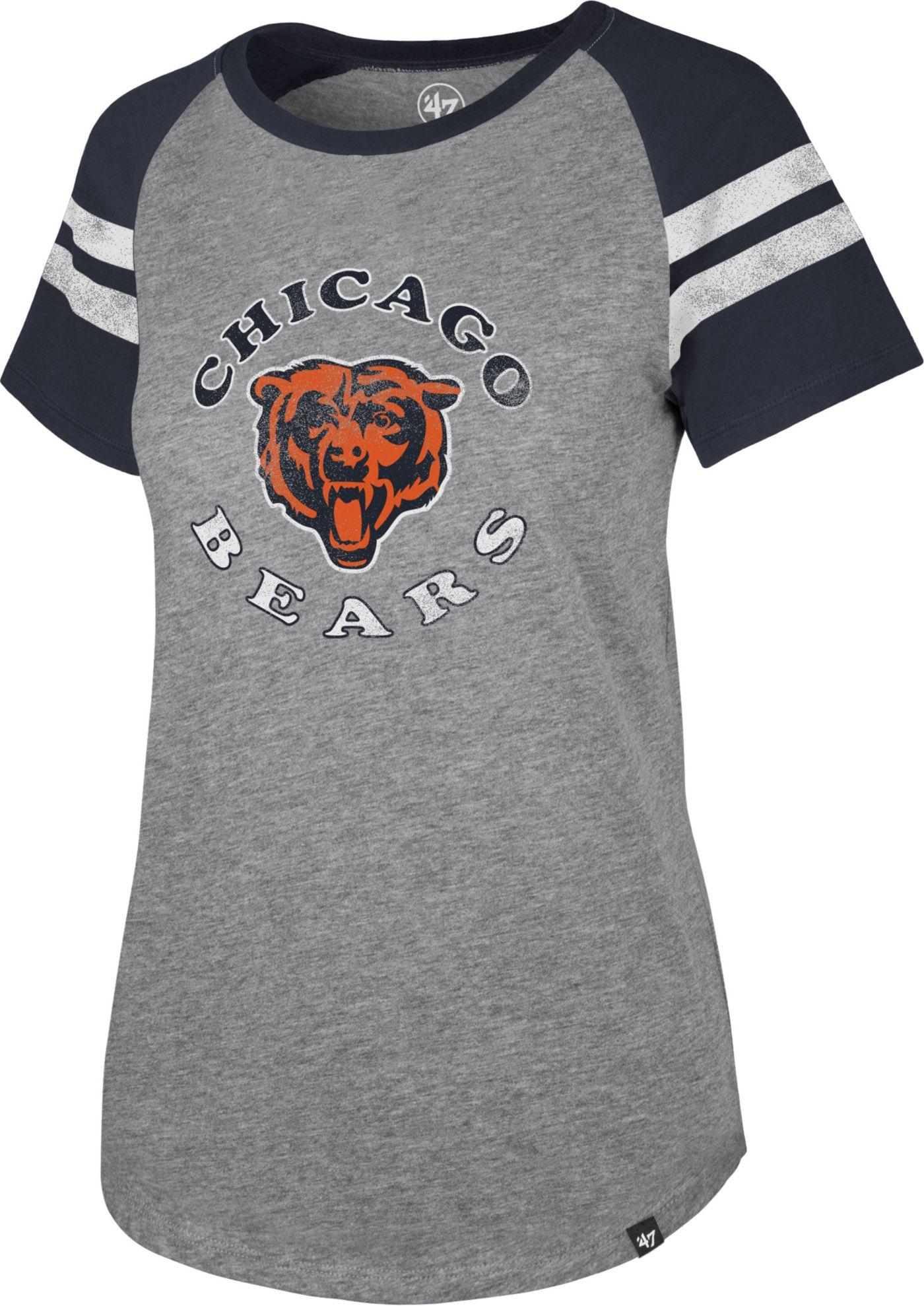 '47 Women's Chicago Bears Fly Out Raglan T-Shirt