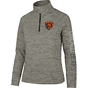'47 Women's Chicago Bears Impact Grey Quarter-Zip Pullover