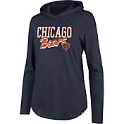 '47 Women's Chicago Bears Club Navy Hooded Long Sleeve Shirt