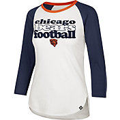 '47 Women's Chicago Bears Retro Stock Throwback Raglan Shirt