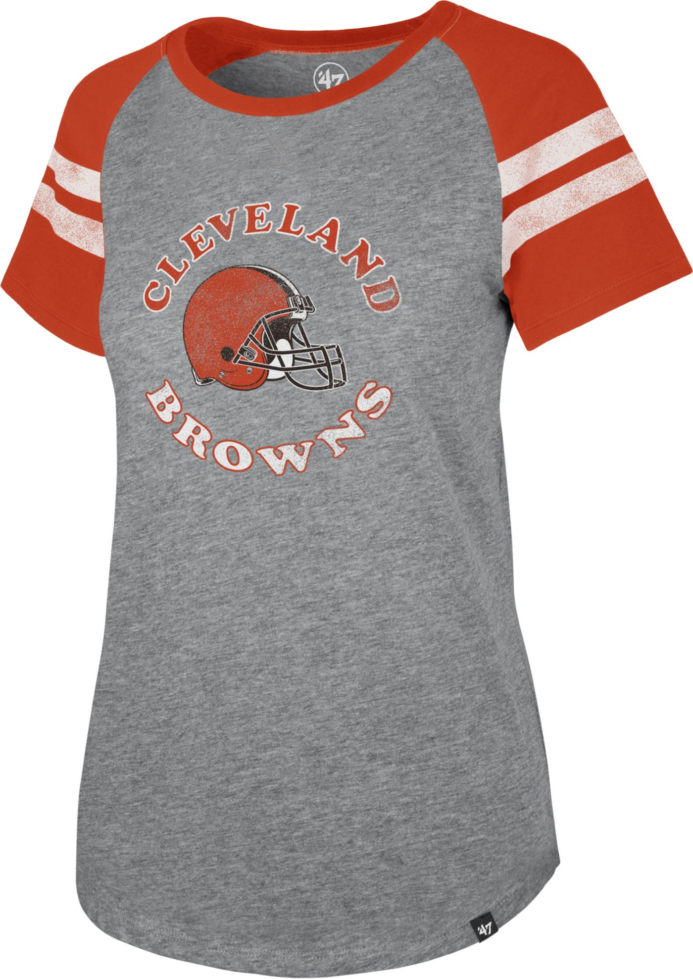 '47 Women's Cleveland Browns Fly Out Raglan T-Shirt