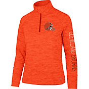 '47 Women's Cleveland Browns Impact Orange Quarter-Zip Pullover