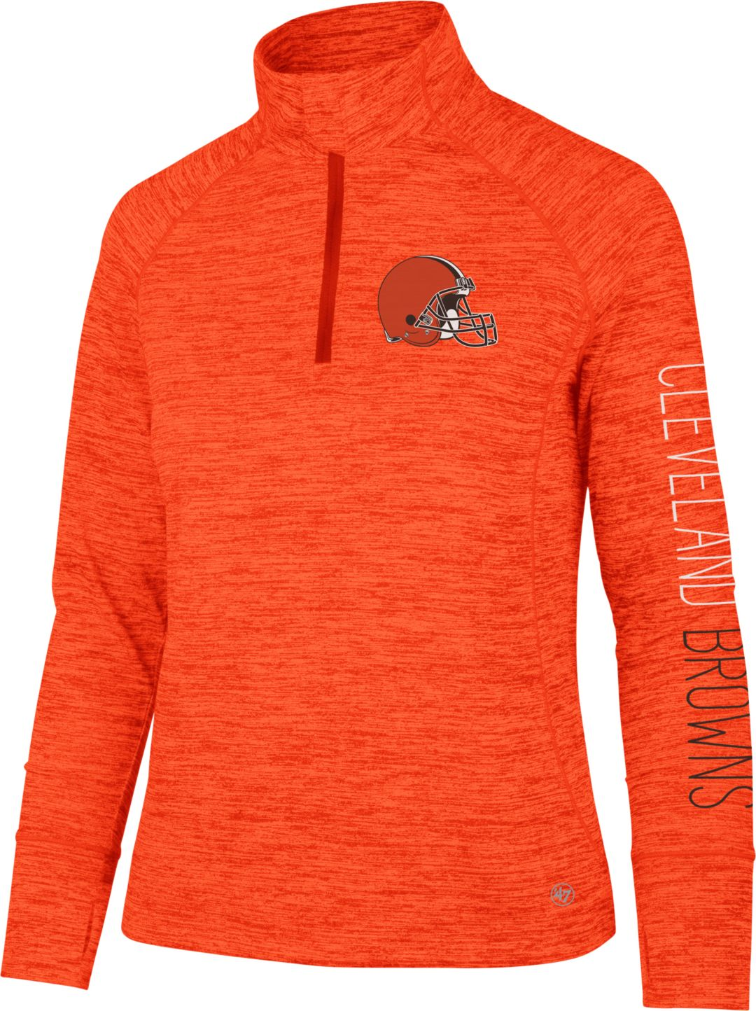sports shoes 9b872 374bf '47 Women's Cleveland Browns Impact Orange Quarter-Zip Pullover