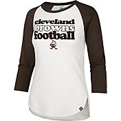 '47 Women's Cleveland Browns Retro Stock Throwback Raglan Shirt