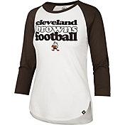 '47 Women's Cleveland Browns Retro Stock Throwback Raglan Shirt