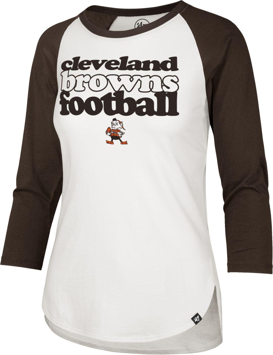 finest selection 230a1 17c68 '47 Women's Cleveland Browns Retro Stock Throwback Raglan Shirt