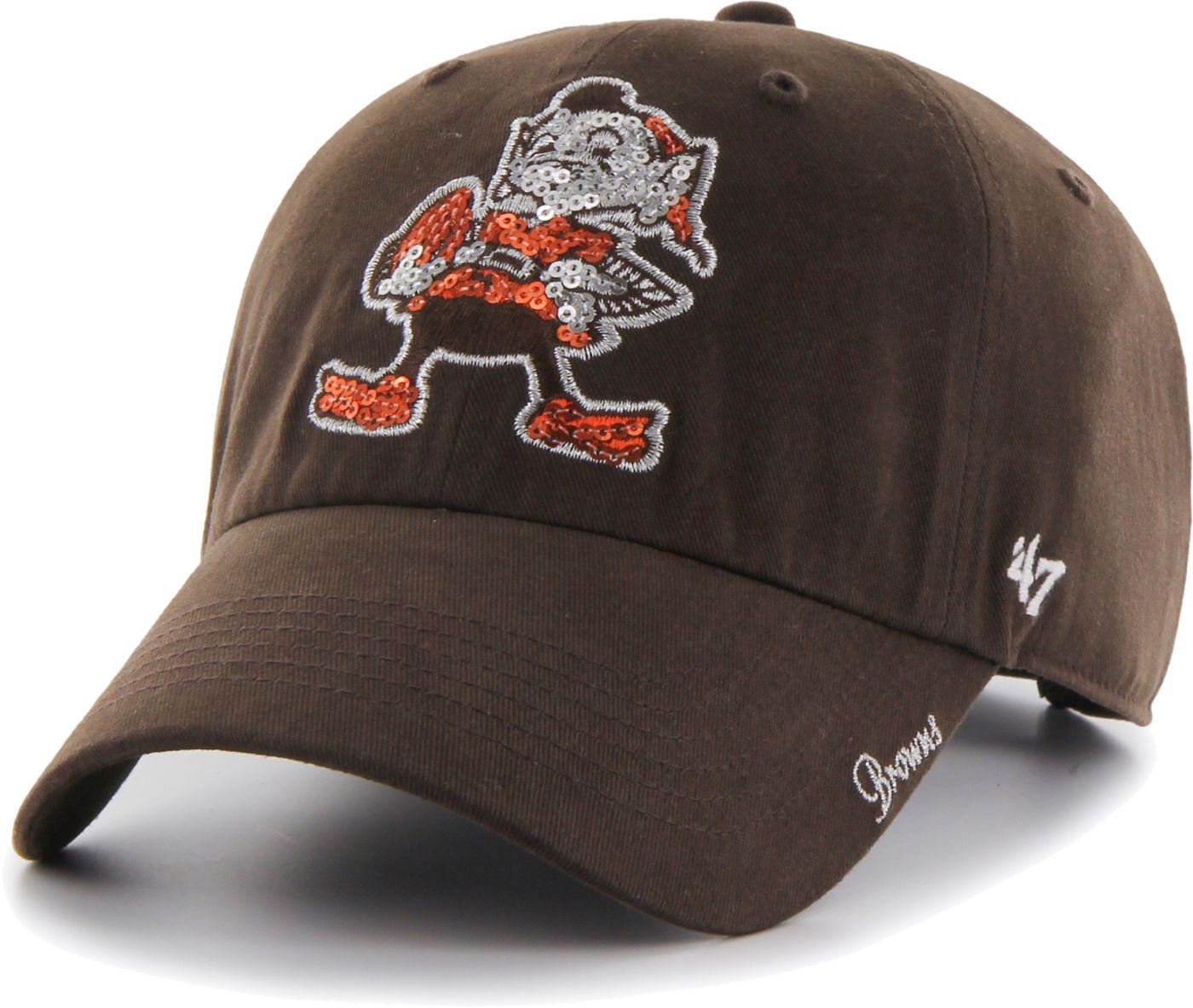 '47 Women's Cleveland Browns Sparkle Legacy Brown Adjustable Hat