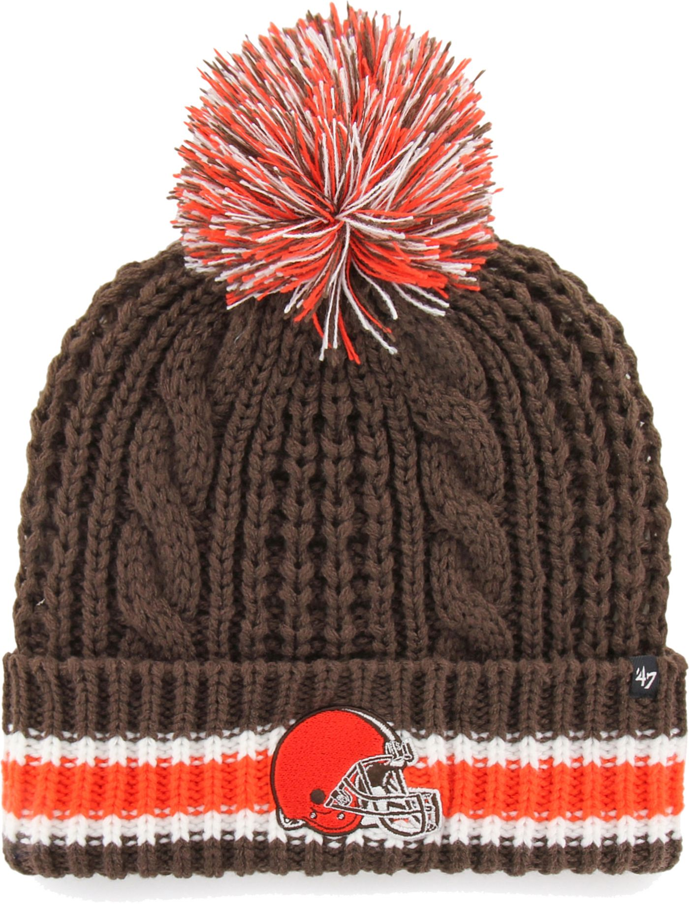 '47 Women's Cleveland Browns Static Cuffed Brown Knit