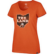 '47 Women's Cleveland Browns 'The Land' Orange Scoop T-Shirt