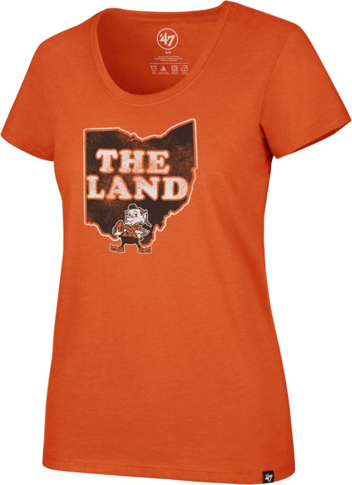 a94878d2 '47 Women's Cleveland Browns 'The Land' Orange Scoop T-Shirt