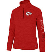 '47 Women's Kansas City Chiefs Impact Red Quarter-Zip Pullover