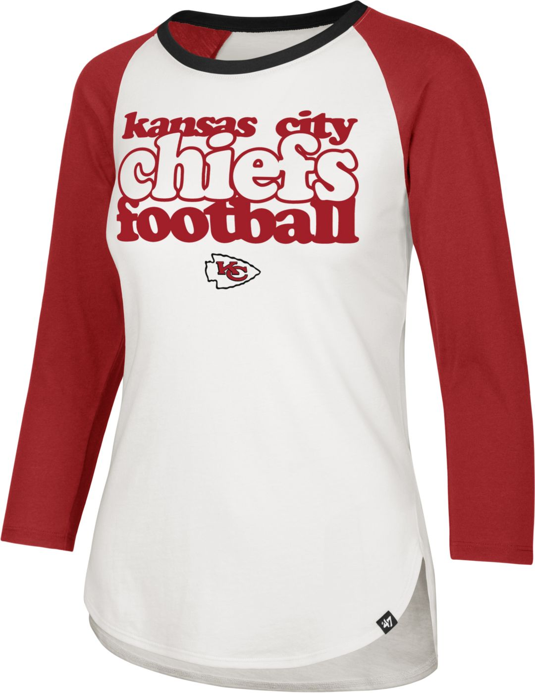 100% authentic 35c50 ce085 '47 Women's Kansas City Chiefs Retro Stock Throwback Raglan Shirt