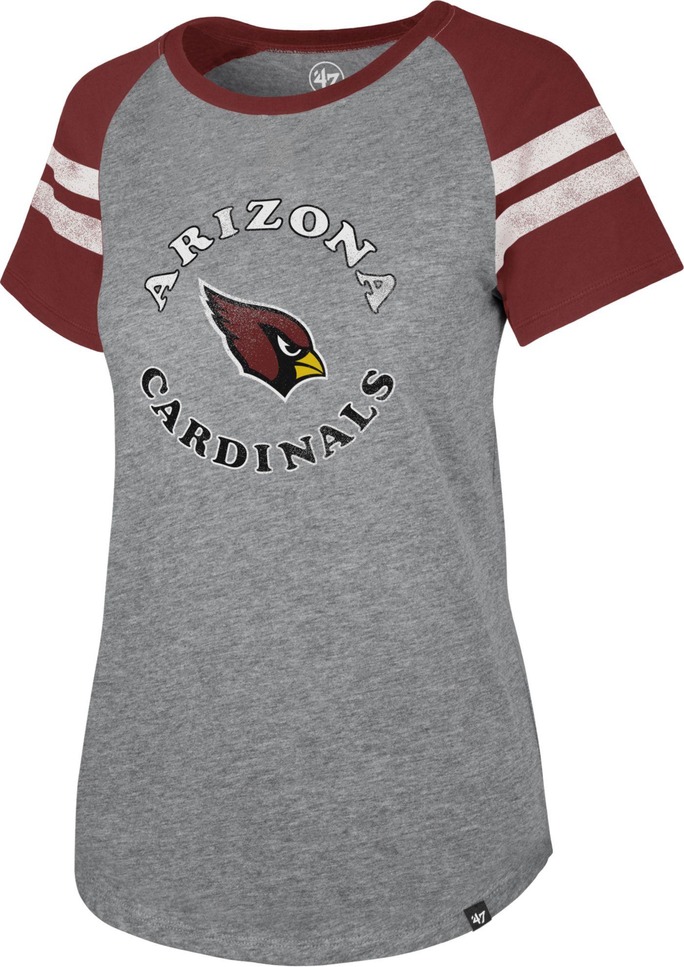 '47 Women's Arizona Cardinals Fly Out Raglan T-Shirt