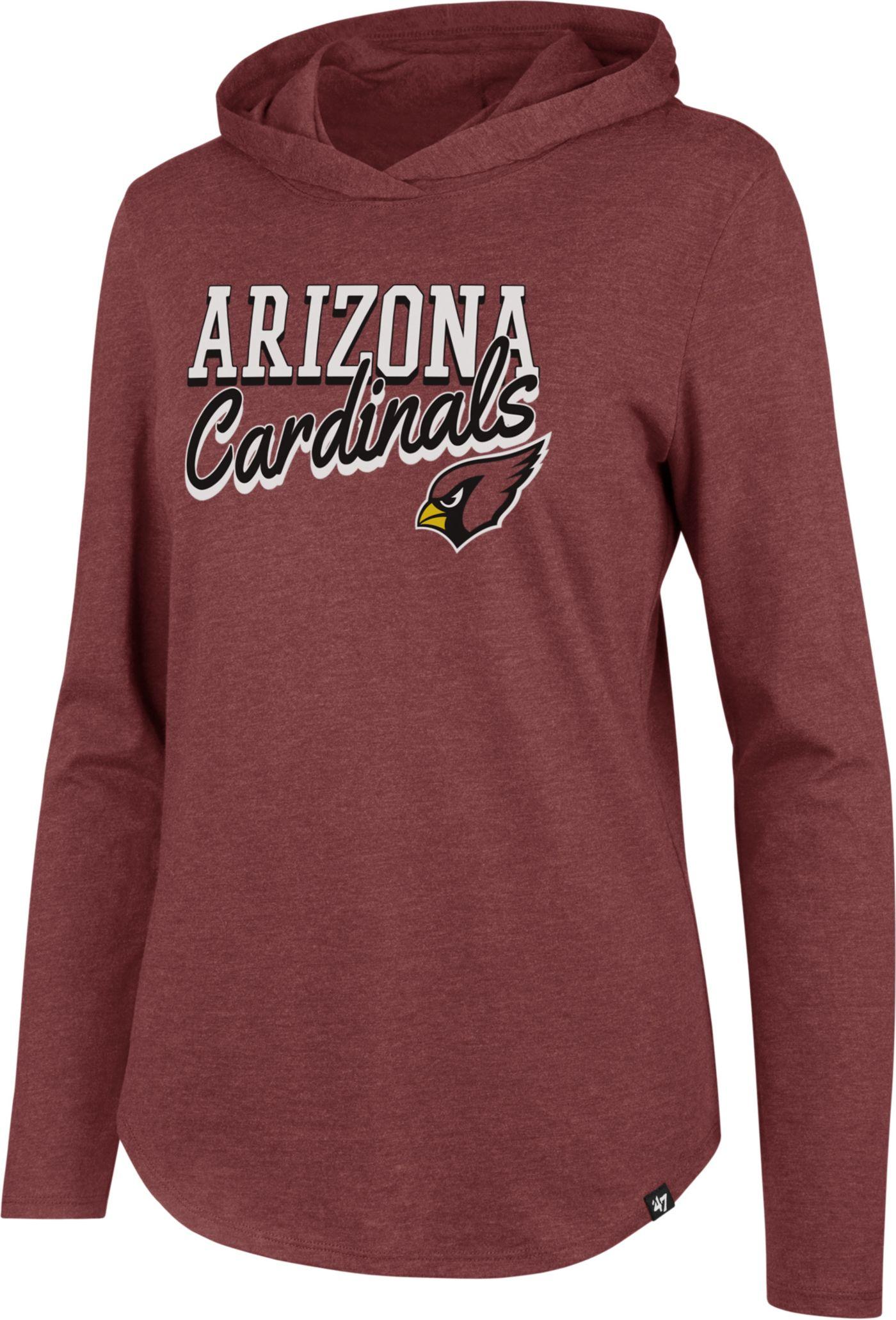 '47 Women's Arizona Cardinals Club Red Hooded Long Sleeve Shirt